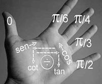 Trigonometría en la palma