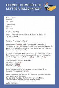 lettre autorisation de stationnement benne Flassans-sur-Issole