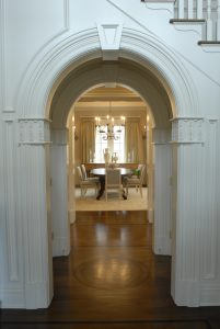hallway detail and dining room greenwich ct