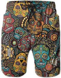 NDNG-Pantalones-Cortos-Mexicanos-Calaveras-bañador-bañador-calaveras-hombre