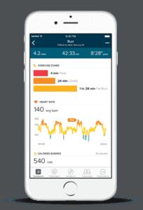 Зоны пульса в приложении на iPhone