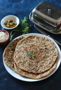Aloo Matar Paratha / Potato Peas Stuffed Flatbreads