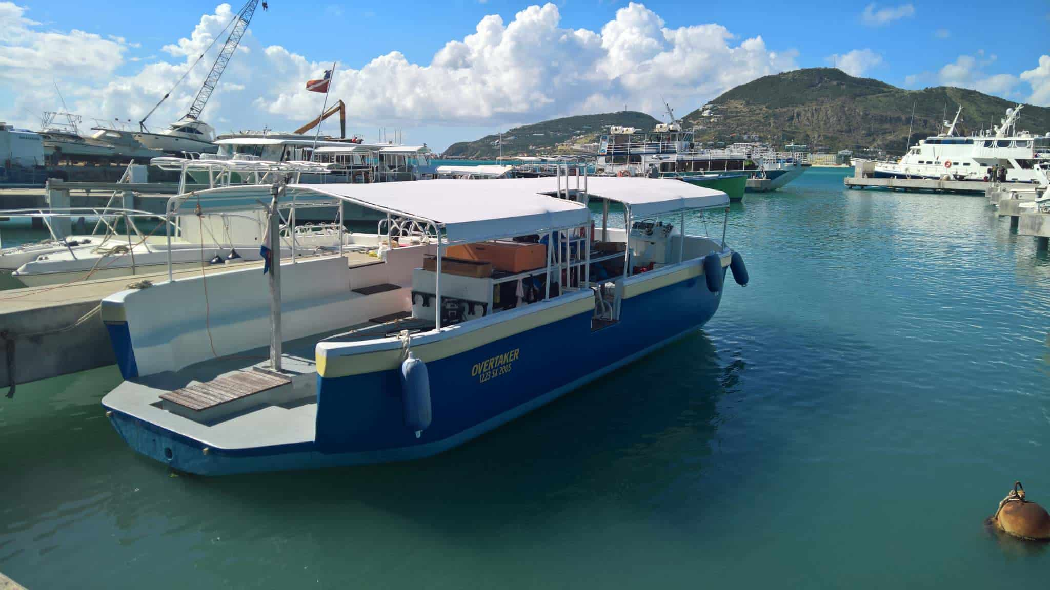 Our adorable boat; The Overtaker, SNUBA SXM, Sint Maarten