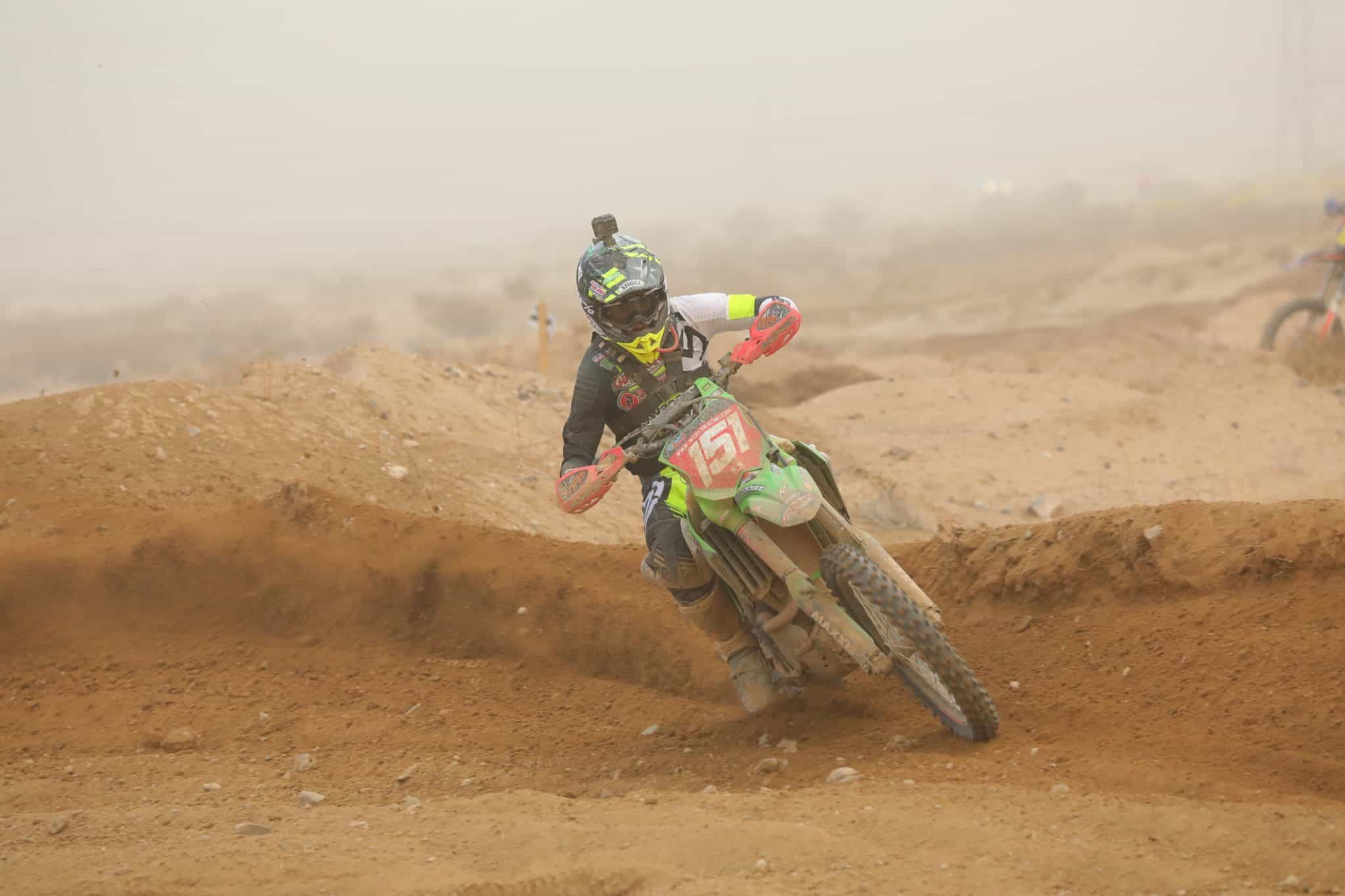 Clay Hengeveld riding his KX250 at the 2020 Primm WORCS race