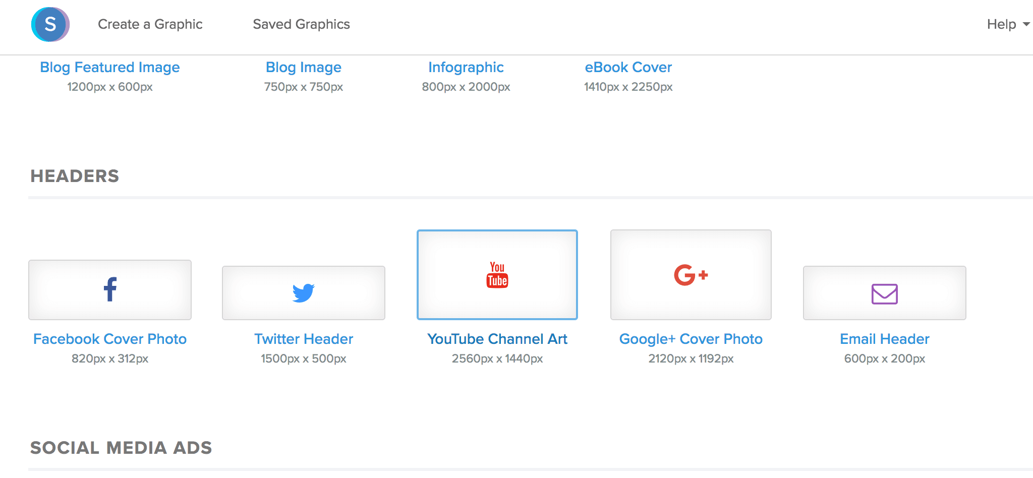snappa youtube banner size