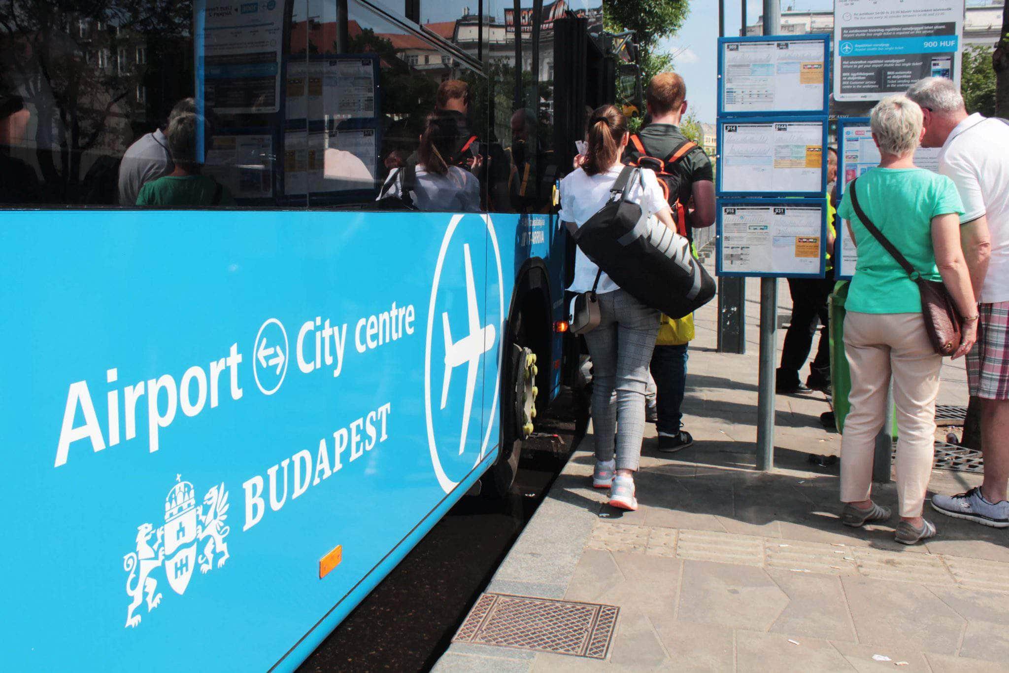 airport bus transfer budapest hungary bkk bkv