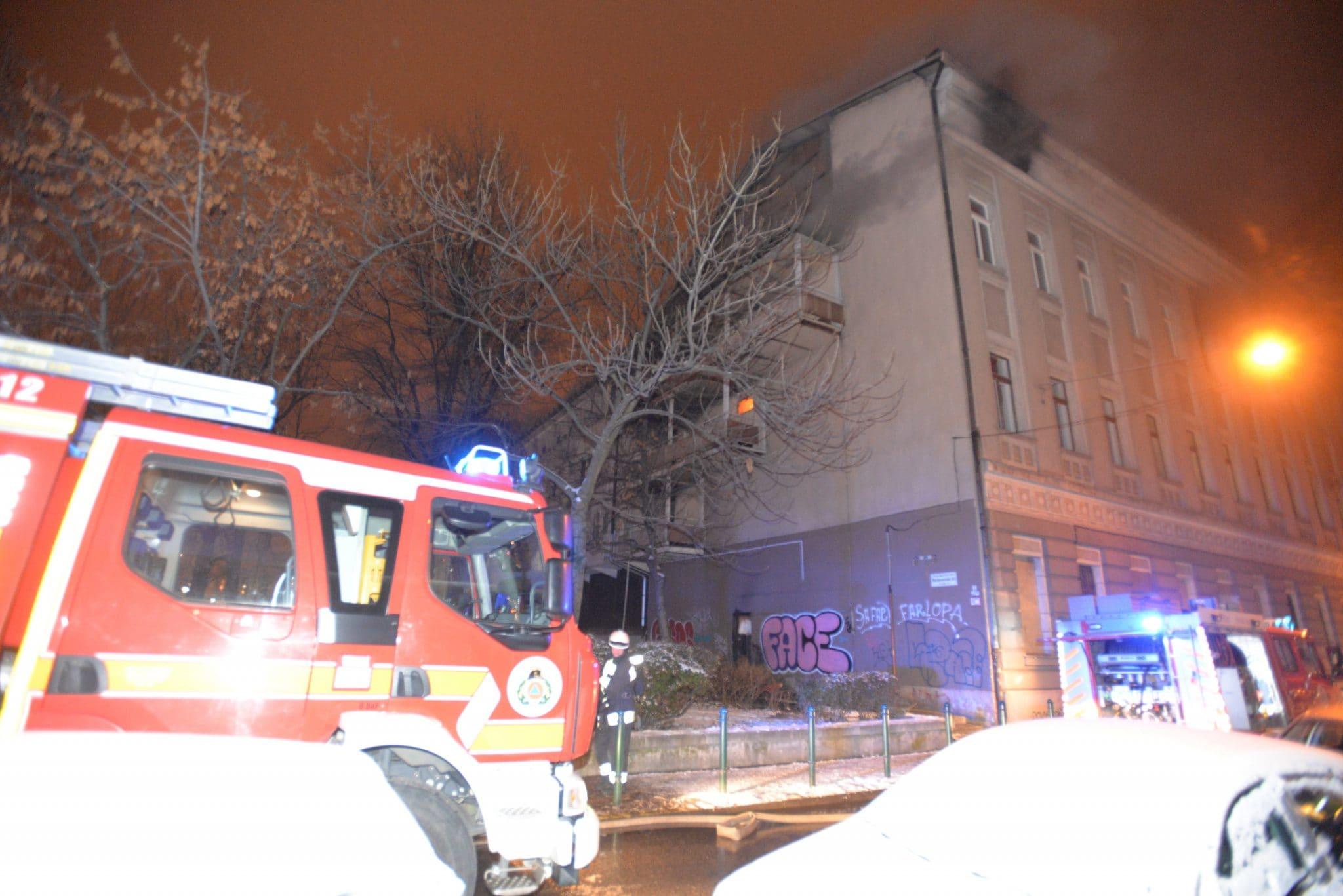 dormitory on fire Budapest
