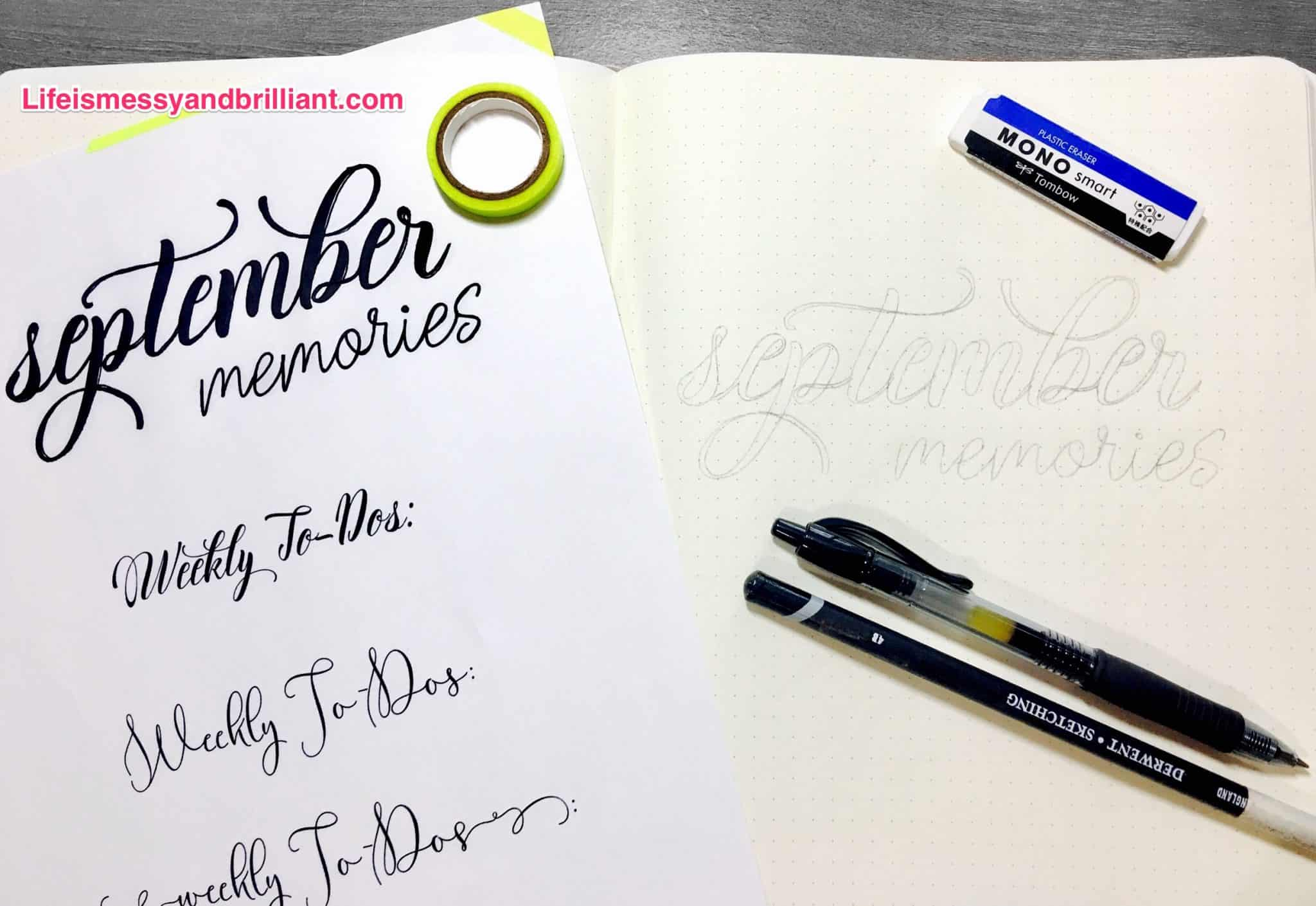 How To Use Fonts To Draw Beautiful Bullet Journal Titles