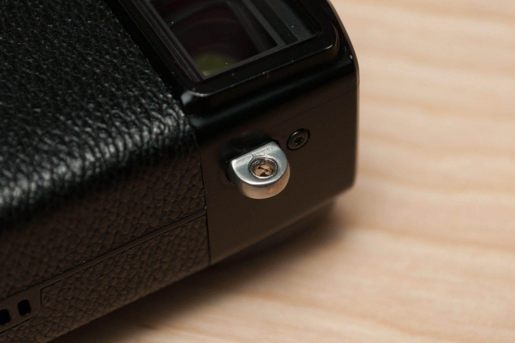 This is what a Fujifilm strap lug insert looks like in the lug.