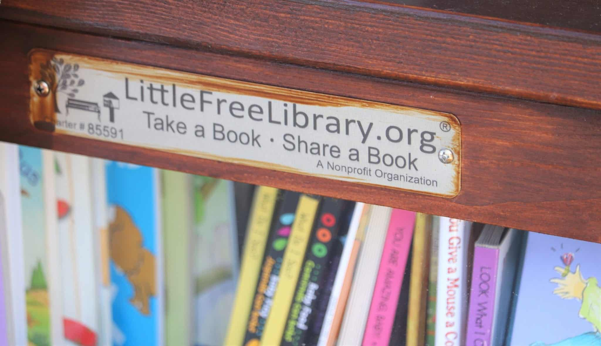 Little free library at Valley Child Care & Learning Center North Phoenix