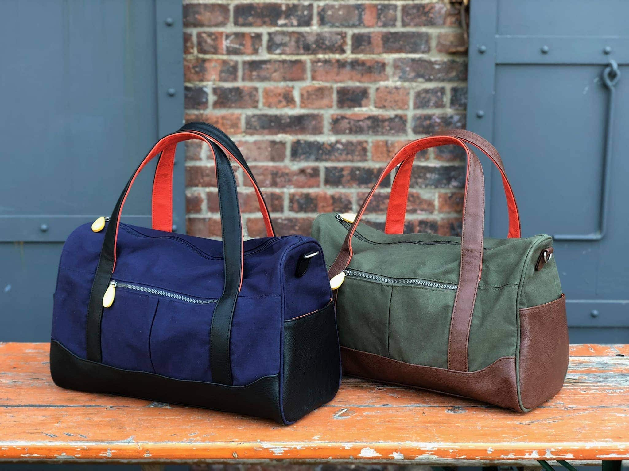 weekenders and travel bags for men, vegan leather