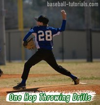 one hop throwing drills