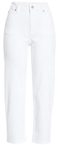 Wardrobe essentials - Eileen Fisher high waist pants | 40plusstyle.com