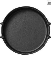 SOGA Cast Iron 30cm Frying Pan Skillet Non-stick Coating Steak Sizzle Platter