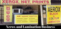 Xerox and Lamination business in hindi
