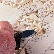 cutting a straight-wall chip carving