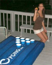 Floating Beer Pong Table - Inflatable Beer Pong Table
