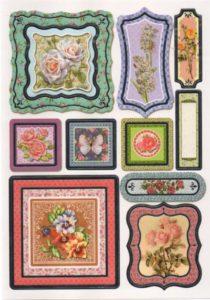 Stickers roses et papillons autocollants