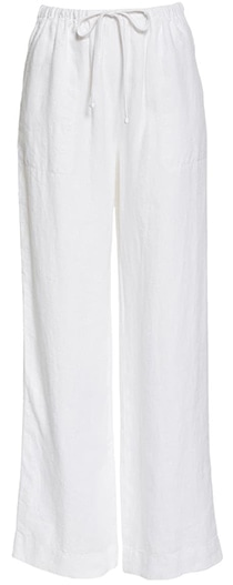 Pants to hide a belly - Vince tie waist pants   40plusstyle.com
