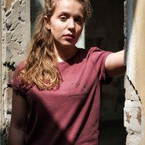 ÄSTHETIKA T-Shirt Roll Up - LA FORCE FÉMININE burgundy/black mood