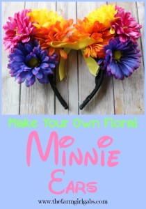 Easy Step by Step instructions on how to make your own Floral Minnie Mouse Ears. Show off your #DisneySide on your next trip to the Disney Parks or at your #DisneySide at Home Celebration.