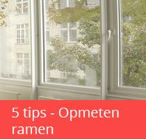 5 tips voor het opmeten van ramen