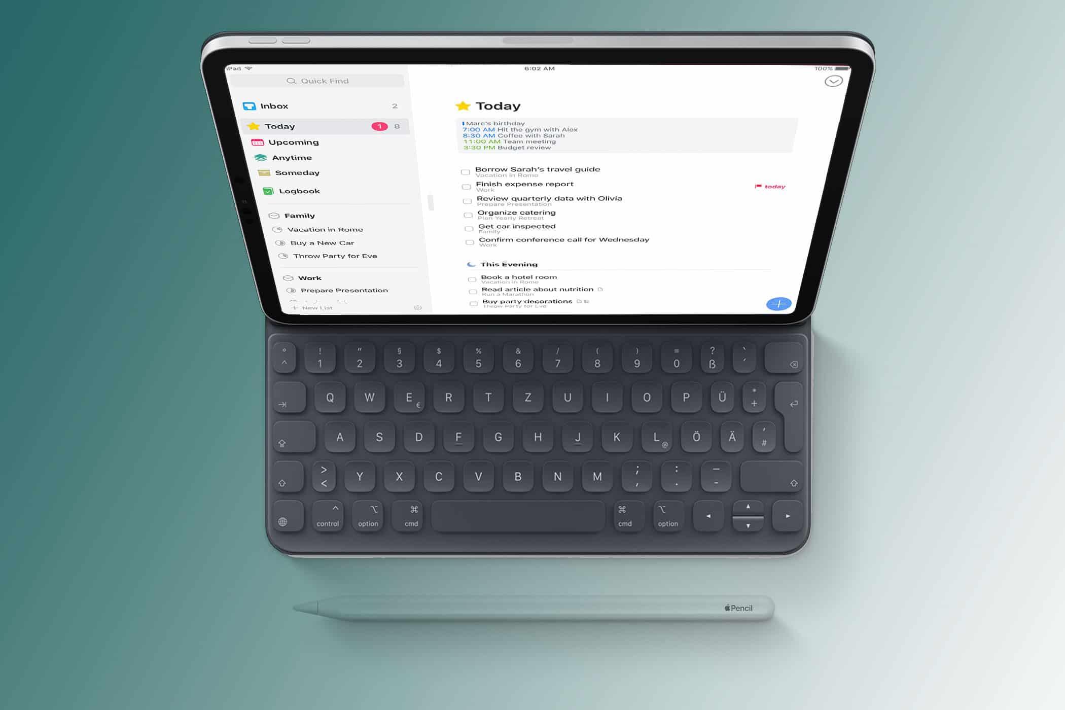 iPad mit Keyboard