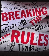 breaking the rules in creative web design