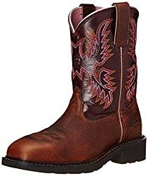 Ariat Women's Krista Pull-on Steel Toe Western Cowboy Boots
