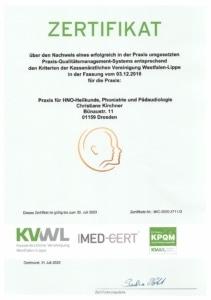Zertifizierung für KPQM