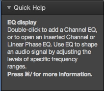 Quick Help is something we've seen in Ableton Live, but it's a welcome addition to Logic.