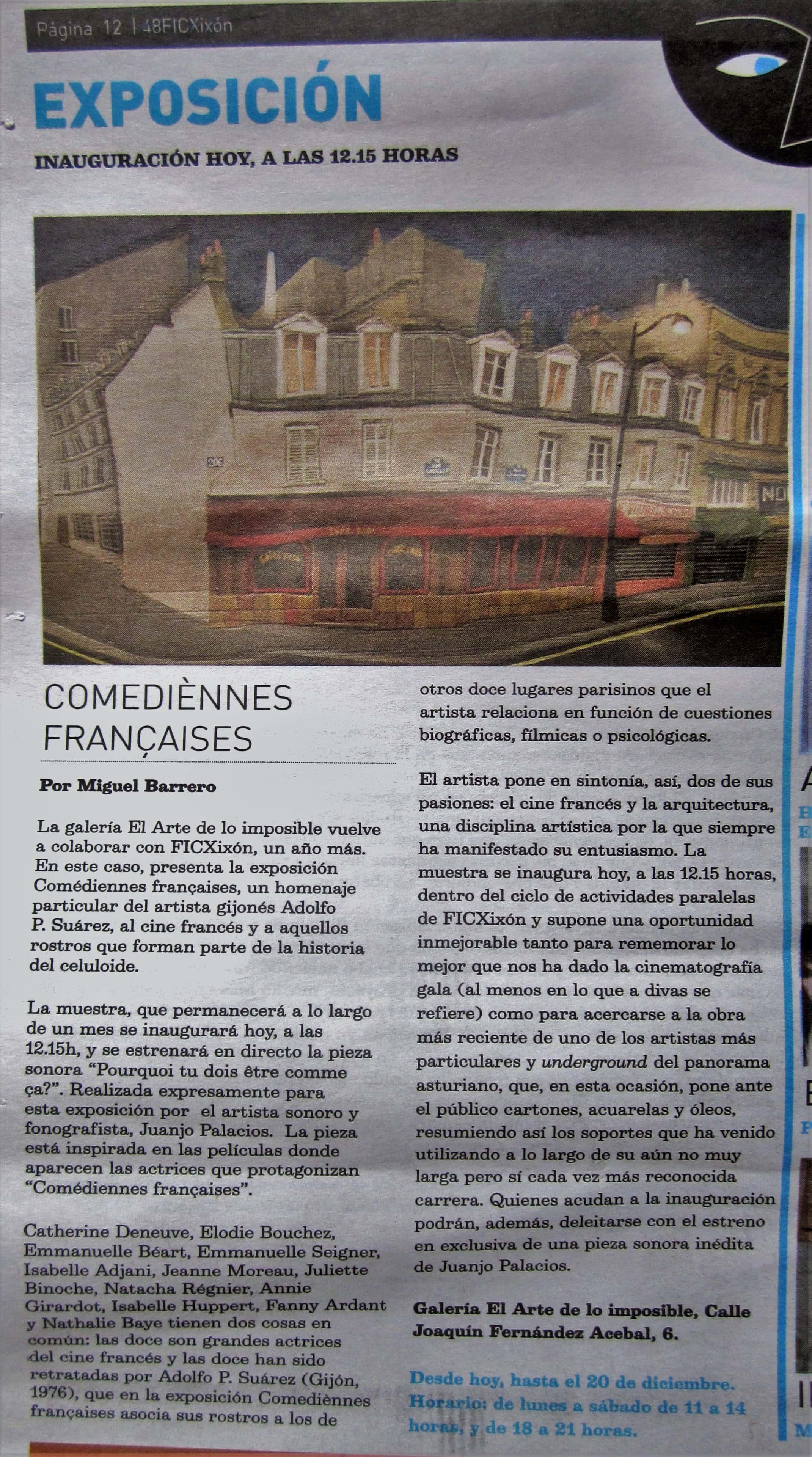 """Comediénnes françaises"", por Miguel Barrero."
