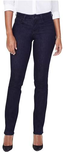 NYDJ straight jeans | 40plusstyle.com