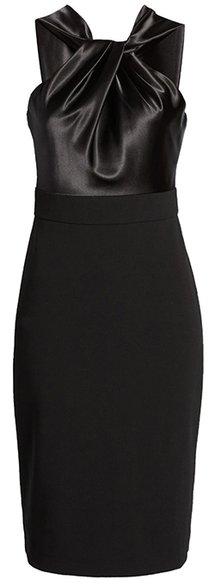Eliza J twist halter neck cocktail dress | 40plusstyle.com