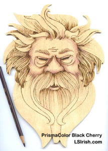 colored pencils in pyrography