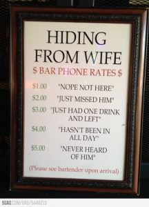 hiding from wife bar rates