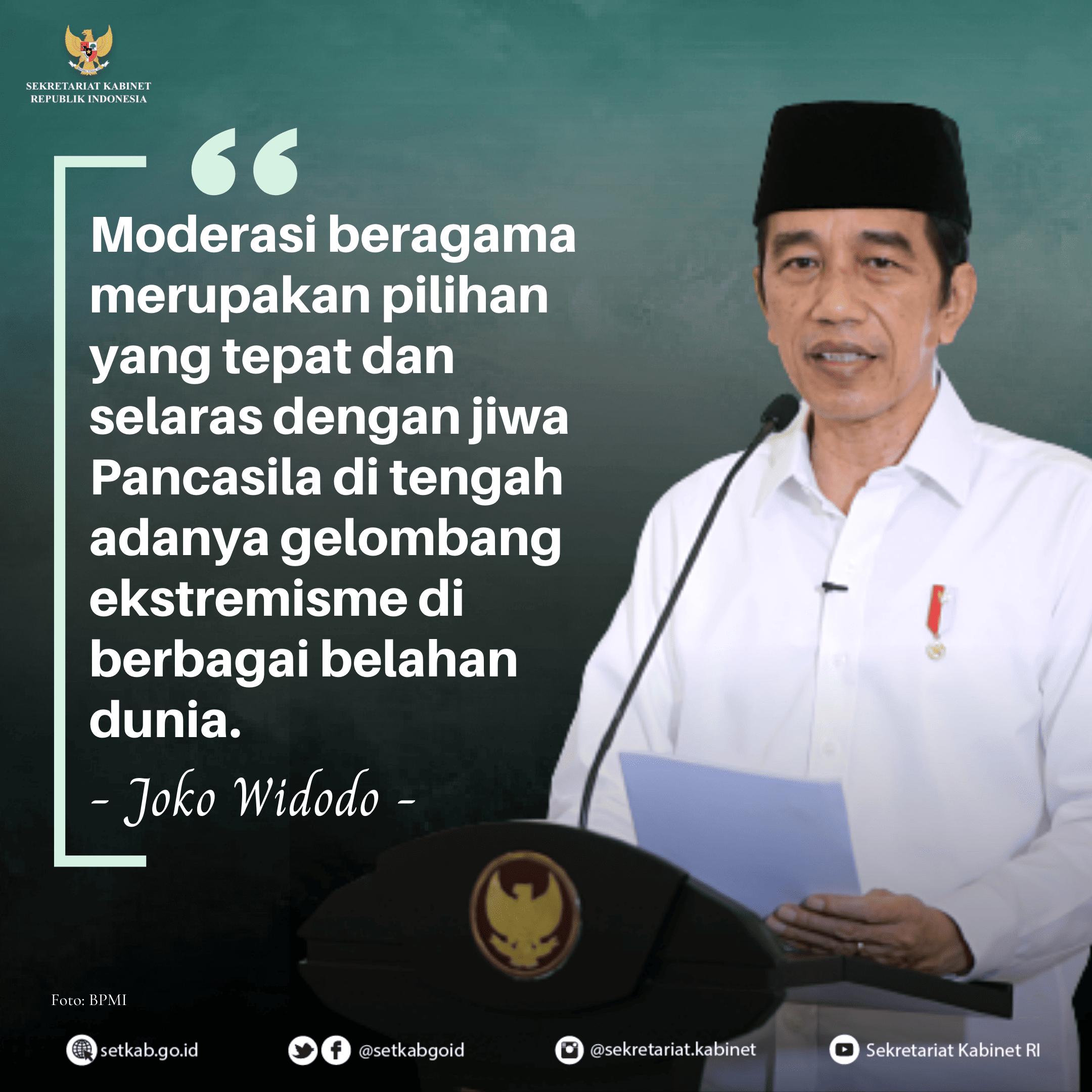 Pesan Presiden Joko Widodo pada Rapat Koordinasi Nasional Forum Kerukunan Umat Beragama (FKUB), Selasa (3/11)