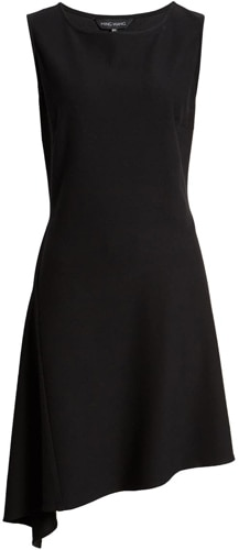 Ming Wang asymmetrical dress | 40plusstyle.com
