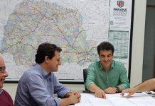 Acompanhado do secretário Municipal de Obras, Herivelto Moreno, e do ex-prefeito e secretário de Estado da Saúde, Dr. Beto Preto, Júnior manteve audiência em Curitiba com o diretor-geral do Departamento de Estradas de Rodagens do Paraná (DER-PR), Fernando Furiatti Sabóia