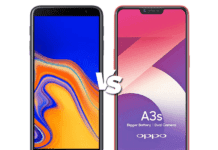 Oppo F9 comparison with Samsung J4