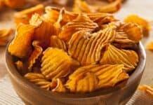 Chips de Batata-Doce de Forno