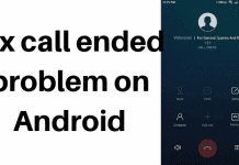 call ended problem on Android