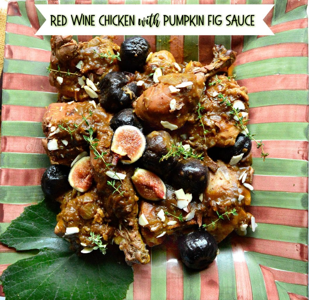 Chicken with red wine, figs and pumpkin
