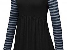 Aidonger abito ragazza maglia maniche lunghe