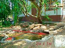 строительство пруда размером 2-3м
