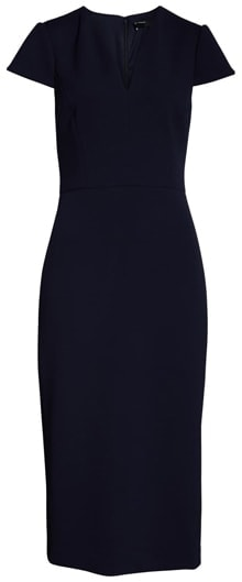 Maggy London midi sheath dress | 40plusstyle.com
