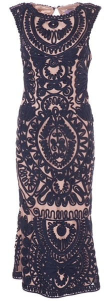 JS Collections - Soutache Mesh Dress (NavyNude) | fashion over 40 | style | fashion | 40plusstyle.com