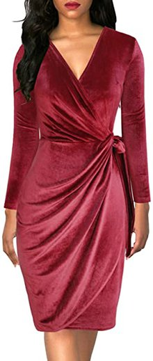 Hide your belly with draped dresses | 40plusstyle.com