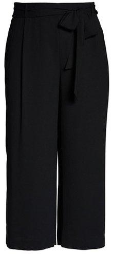 Halogen belted crop wide leg pants | 40plusstyle.com