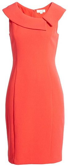 Harper Rose envelope collar crepe sheath dress | 40plusstyle.com